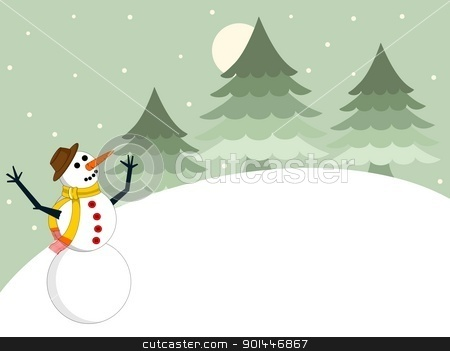 Christmas background with snowman and space for text.vector stock vector clipart, Christmas background with snowman and space for text.vector by Abdul Qaiyoom