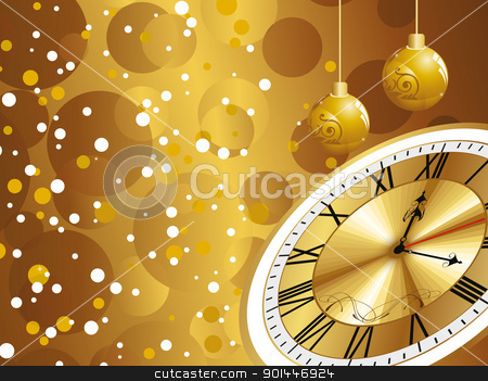 bubbles background with hanging balls, golden watch stock vector clipart, abstract bubbles background with hanging balls, golden watch by Abdul Qaiyoom
