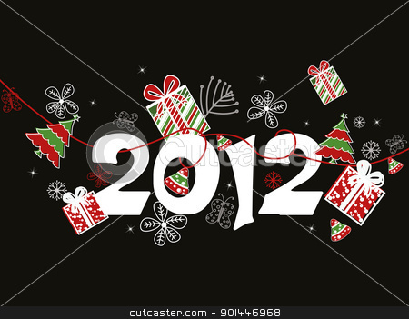 vector for new year celebration stock vector clipart, creative artwork design composition background for happy new year celebration  by Abdul Qaiyoom