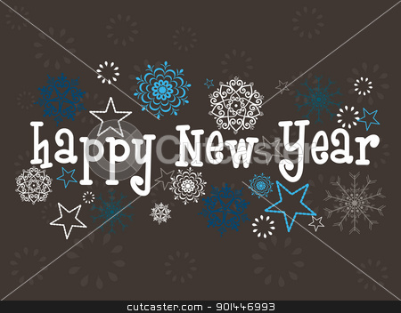 snowflakes background for new year 2012 stock vector clipart, abstract elegant snowflakes concept background for happy new year by Abdul Qaiyoom