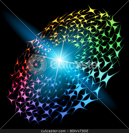 Vector abstract design stock photo, Abstract vector glowing background #84. For your design. by dvarg