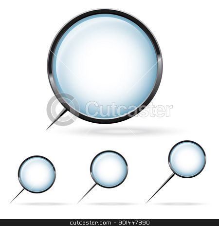 Magnifying glass stock photo, Illustration of a magnifying glass over white background by dvarg