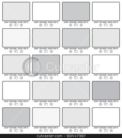 Blank frame in gallery stock photo, Blank frame in gallery for web design. Vector illustration. by dvarg