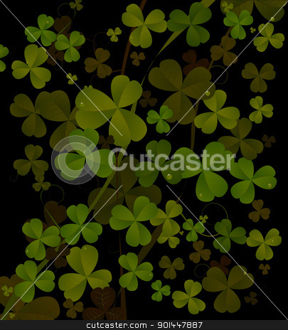 St. Patrick's day abstract background stock vector clipart, Saint Patrick's day background in black and green colors. Abstract art. by Richard Laschon