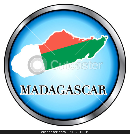 Madagascar Round Button stock vector clipart, Vector Illustration for Madagascar, Round Button. by Basheera Hassanali
