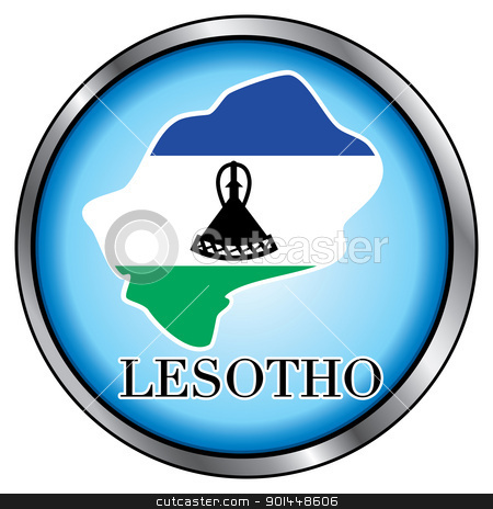 Lesotho Round Button stock vector clipart, Vector Illustration for Lesotho, Round Button. by Basheera Hassanali