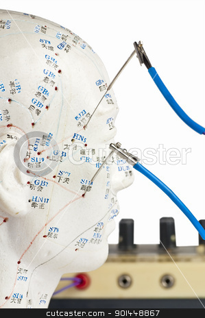 electro-acupuncture stock photo, electric-acupuncture by Hans-Joachim Schneider