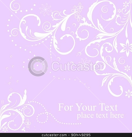 Illustration floral background stock vector clipart, Illustration floral background card for design - vector by -=Mad Dog=-