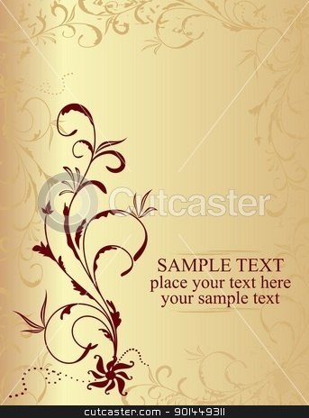Floral background stock vector clipart, Illustration floral background for design card - vector by -=Mad Dog=-