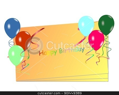  Beautiful celebration card with balloons stock vector clipart,  Beautiful celebration card with balloons. Vector by -=Mad Dog=-