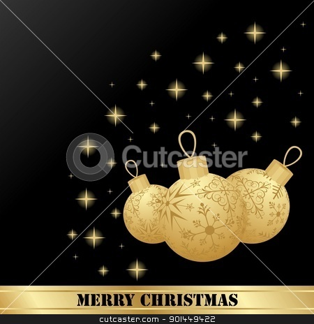 Illustration set Christmas balls stock vector clipart, Illustration set Christmas balls are isolated for design card - vector by -=Mad Dog=-