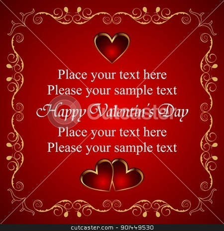 Valentine greeting card with heart stock vector clipart, Illustration Valentine greeting card with heart - vector by -=Mad Dog=-
