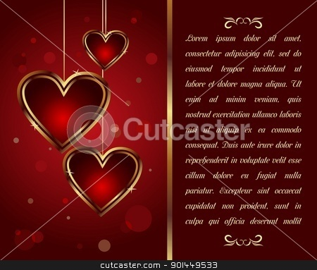 card with heart for Valentine's day - vector stock vector clipart, Illustration congratulation card with heart for Valentine's day - vector by -=Mad Dog=-