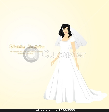 Wedding background stock vector clipart, Wedding background for design invitation or card. Vector by -=Mad Dog=-