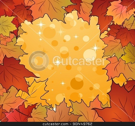 autumn frame made in maples stock vector clipart, Illustration of autumn frame made in maples - vector by -=Mad Dog=-