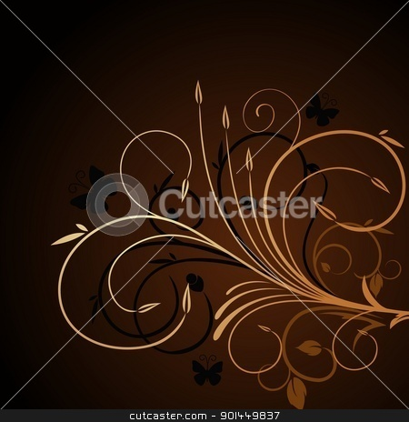 Illustration luxury background stock vector clipart, Illustration luxury background for design card - vector by -=Mad Dog=-