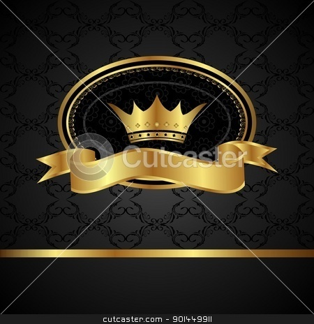 royal background with golden frame stock vector clipart, Illustration royal background with golden frame - vector by -=Mad Dog=-