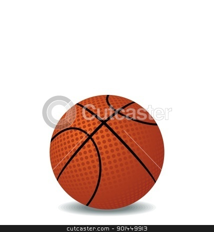 Realistic illustration of basket ball stock vector clipart, Realistic illustration of basket ball isolated on white background - vector by -=Mad Dog=-