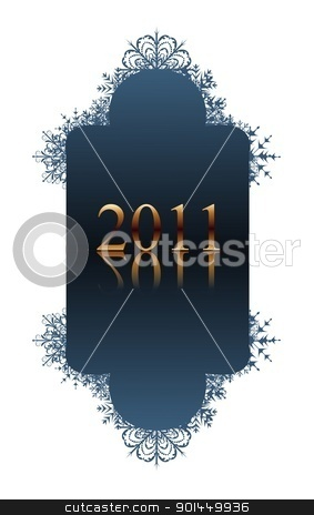 winter blue banner stock vector clipart, Illustration winter blue banner with snowflakes - vector by -=Mad Dog=-