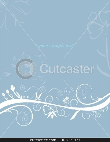 Abstract flower design stock vector clipart, Abstract flower design - vector  by -=Mad Dog=-