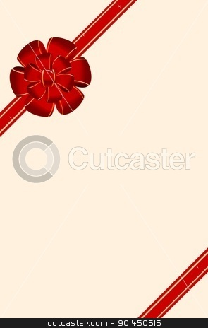 A beautifu bow decoration on letter stock vector clipart, A beautiful bow decoration on letter - vector by -=Mad Dog=-
