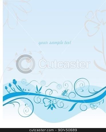 Blue flower pattern stock vector clipart, Blue flower pattern - vector by -=Mad Dog=-