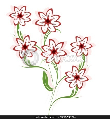 Beautiful flowers stock vector clipart, Illustration of beautiful flowers. Vector by -=Mad Dog=-