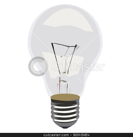 Realistic illustration single lamp stock vector clipart, Realistic illustration single lamp - vector by -=Mad Dog=-