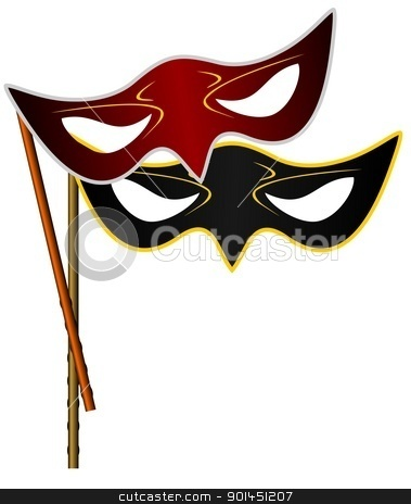 Realistic illustration of carnivals mask stock vector clipart, Realistic illustration of carnivals mask - vector by -=Mad Dog=-