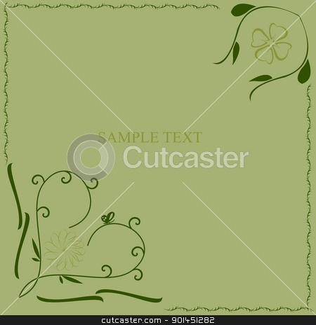 Green flower pattern stock vector clipart, Green flower pattern - vector by -=Mad Dog=-