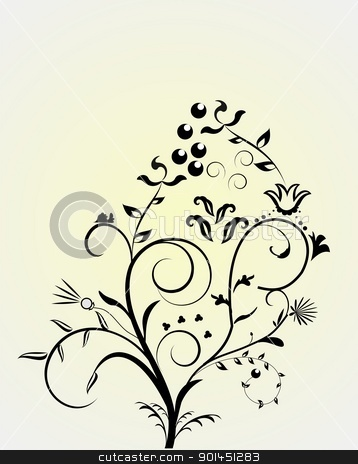 Flower pattern stock vector clipart, Flower pattern - vector by -=Mad Dog=-