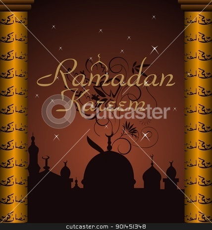 ramazan celebration background stock vector clipart, Illustration ramazan celebration background - vector by -=Mad Dog=-