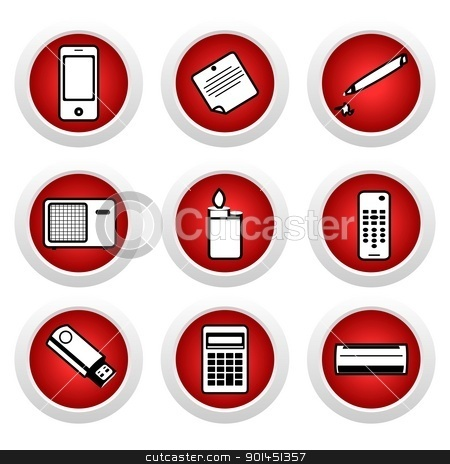 Icon set of home appliances stock vector clipart, Icon set of home appliances. Vector by -=Mad Dog=-