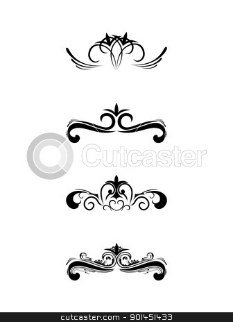 Swirl elements and monograms stock vector clipart, Swirl elements and monograms for design and decorate. by -=Mad Dog=-