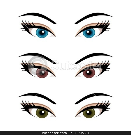 Free Clip Art Eyes With Lashes