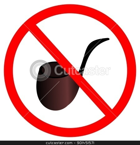 Sign stop smoke tobacco stock vector clipart, Vector illustration of sign stop smoke tobacco by -=Mad Dog=-