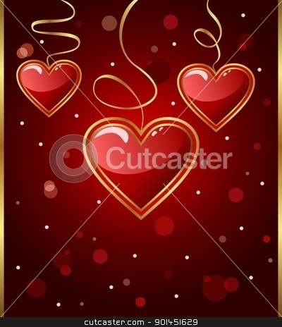 congratulation card with heart for Valentine's day stock vector clipart, Illustration congratulation card with heart for Valentine's day - vector by -=Mad Dog=-