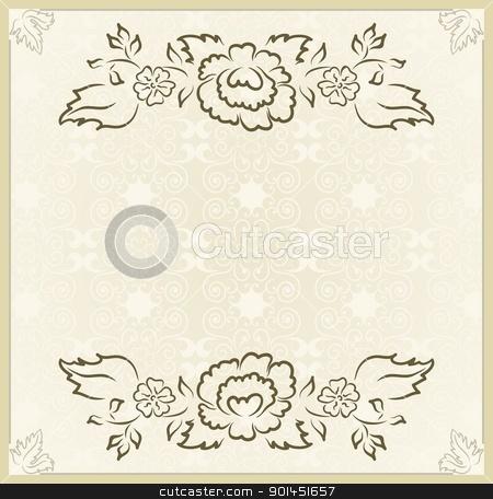 vintage design for wedding card