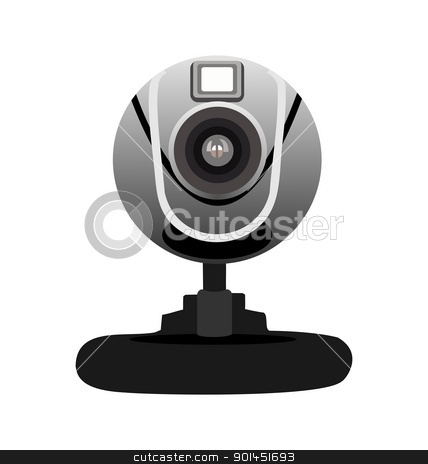 Realistic illustration of web camera stock vector clipart, Realistic illustration of web camera isolated of white background - vector by -=Mad Dog=-