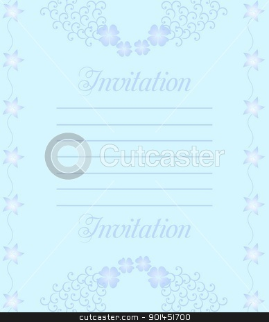 Beautiful wedding invitation or card