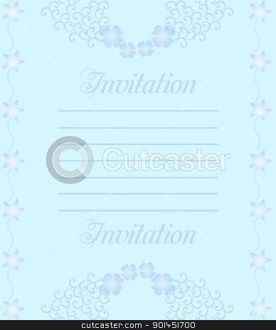 Beautiful wedding invitation or card
