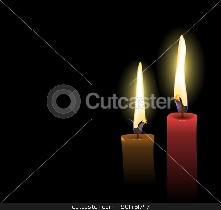 Realistic Christmas Candles stock vector clipart, Realistic Vector Christmas Candles  by -=Mad Dog=-