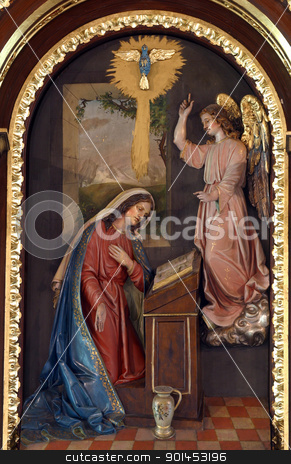 The Annunciation stock photo, The Annunciation by Zvonimir Atletic