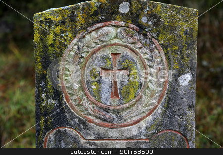 Stone cemetery cross stock photo, Stone cemetery cross by Zvonimir Atletic