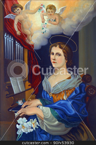 Saint Cecilia stock photo, Saint Cecilia by Zvonimir Atletic