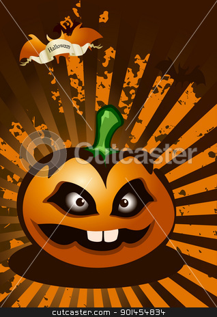 Halloween abstract background stock vector clipart, Halloween abstract background, vector illustration by Jupe