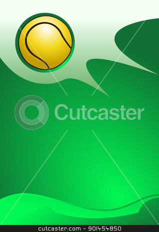 Vector tennis background stock vector clipart, Abstract tennis background ( vector illustration ) by Jupe