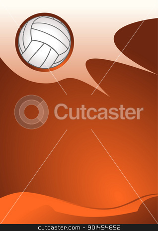 Volleyball sport background stock vector clipart, Volleyball sport background, vector illustration by Jupe