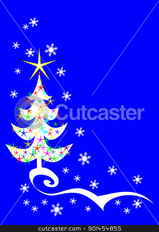 Christmas tree stock vector clipart, Christmas tree by Jupe