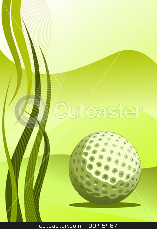 Vector golf background stock vector clipart, Abstract golf background ( vector illustration ) by Jupe
